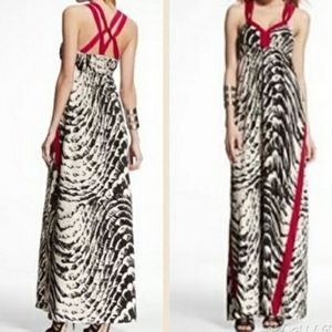 Express Lattice Back Maxi Dress